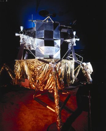 Apollo 11 lunar excursion module (LEM), Science Museum, London, c 1990.