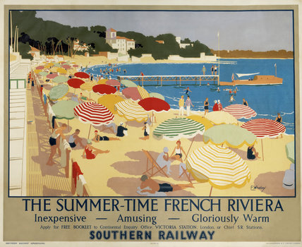 'The Summer-Time French Riviera', SR poster, 1928.