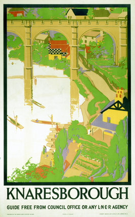 'Knaresborough', LNER poster c 1930s.