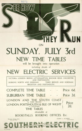 'See How They Run', SR poster, 1923-1940.