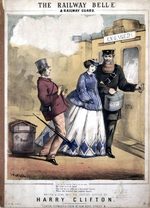 'The Railway Belle and the Railway Guard', c 1870.