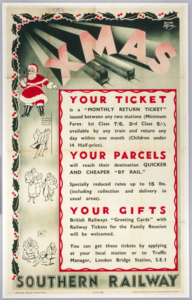 Xmas - Your Ticket, Your Parcel, Your Gifts', SR poster, 1937.