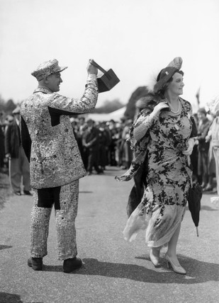 Pearly King collecting money for charity, 14 June 1932.