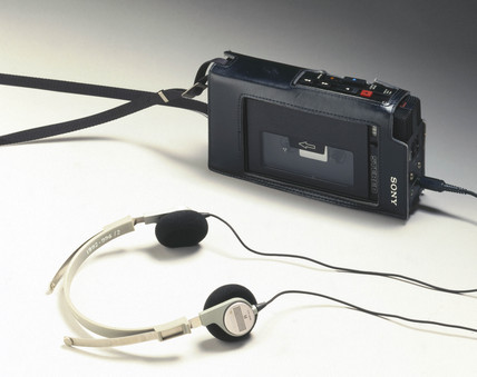 Sony Walkman with headphones, c 1980.