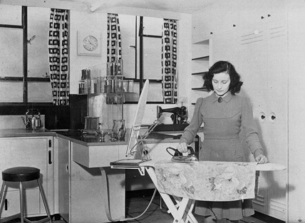 Electric kitchen, Daily Herald Modern Homes Exhibition, London, 1946.