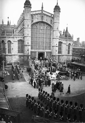 King George V's funeral. 'The funeral corte