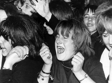 Fans screaming at a Beatles concert, Southport, Lancashire, 1963.