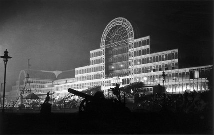 Crystal Palace by night, South London, c 1920s.