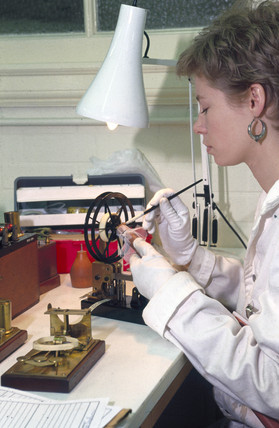 Conservation work, Science Museum, London,  1990s.