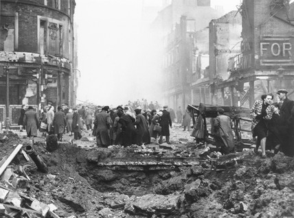 Air raid damage, Sheffield, Second World War, 13 December 1940.