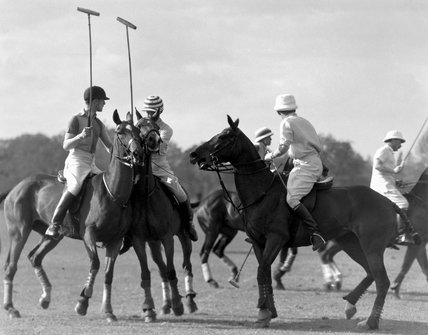 Polo match in progres, c 1930s.