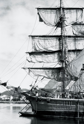 European square-rigged sailing vesel, c 1930.