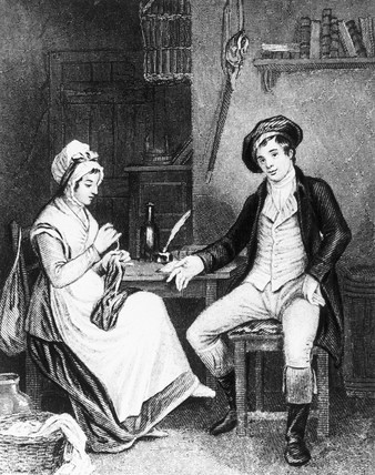 Robert Burns and his wife, c 1779.