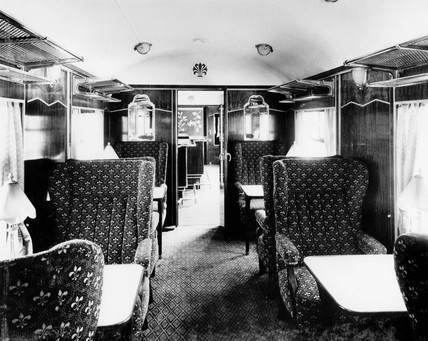 Pullman car Pegasus Bar interior, 1951.