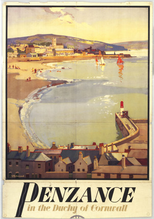Penzance, GWR poster, c 1930s. Great Wester