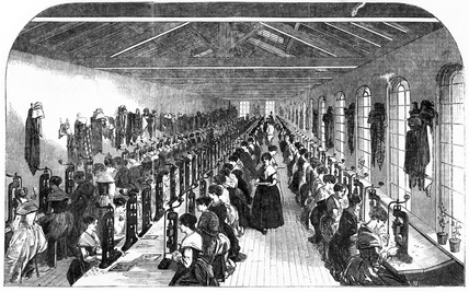 The Slitting Room of Birmingham Pen Factory, 1851  at Science and