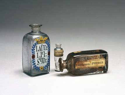 Laudanum bottles, 19th century.