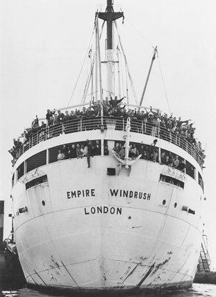 Jamaican immigrants arriving at Tibury Docks in Essex, 22 June 1948.