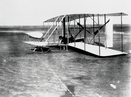 The Wright Brothers' first attempt at powered flight, 14 December 1903.