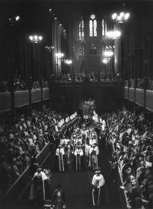Coronation of George VI, Westminster Abbey, London, 12 May 1937.