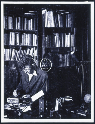 Arthur C Clarke in his study, aged about 18, c 1936.