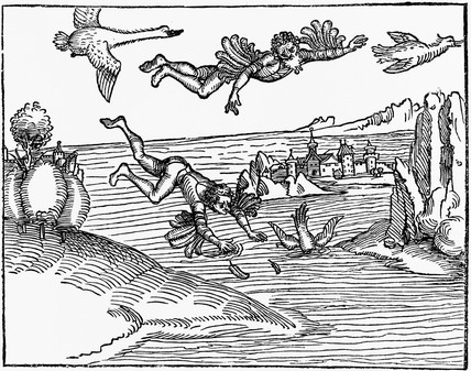 'The Flight of Daedalus and Fall of Icarus', 1493.