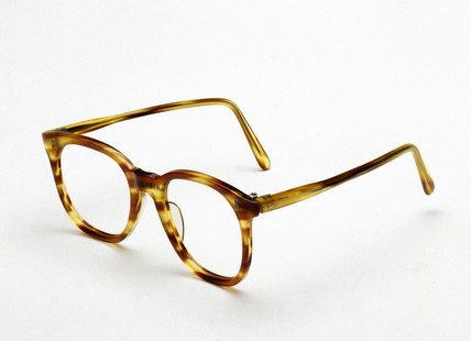 NHS gold-plated plastic rest spectacles, 1948-1960.