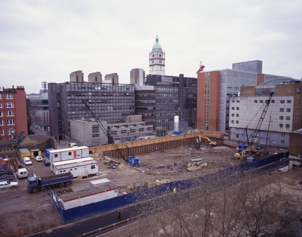 Construction of the Wellcome Wing at the Science Museum, London, 1997.