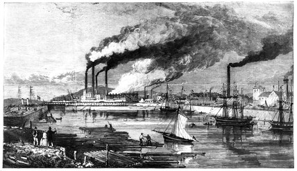 Iron and steel works near Barrow-in-Furnes, 1867.