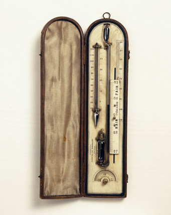 Air barometer or 'sympiesometer', 1858.