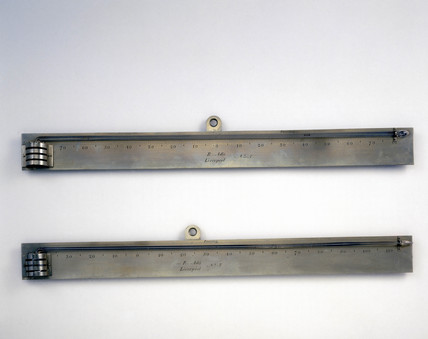 Two thermometers, 1835-1875.