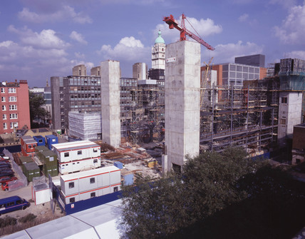 Construction of the Wellcome Wing at the Science Museum, London, 1998.
