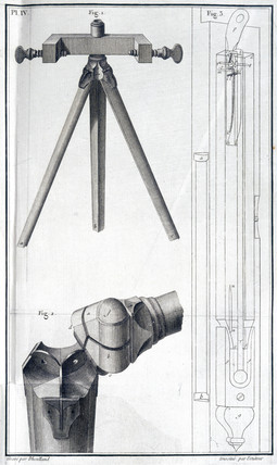 Tripod to support Deluc's barometer, 1772.