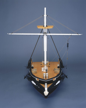 Bow section, HMS Challenger, 1872.