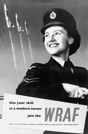 Recruitment poster for the WRAF, WWII. The