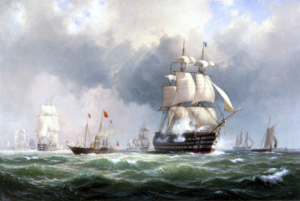 The Baltic fleet leaving Spithead, 15th March 1854.