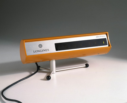 Digital desk clock, Swis, c 1960s.