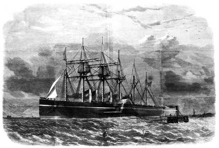 'Great Eastern' leaving Southampton, 1859.