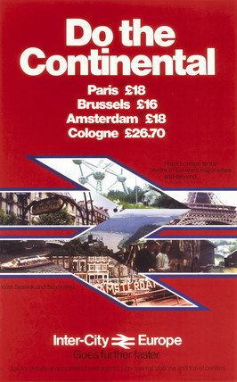 'Do the Continental', BR poster, c 1980s.