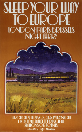 'Sleep your way to Europe', BR poster, 1978.