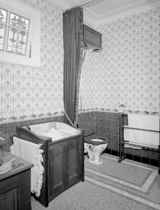 Victorian bathroom, c 1880s. Victorian bath