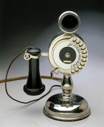 Strowger automatic telephone, c 1905.