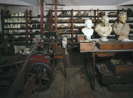 The workshop of James Watt, Scottish engineer, 1790.