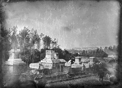 'Pompeii, The East side of the Street of Tombs...', 1841.