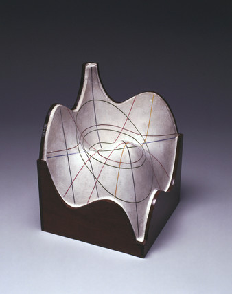 Plaster Surface Model by Alexander Crum Brown, c 1900.