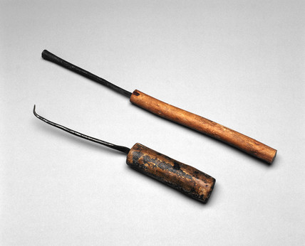 Two cautery instruments, Ugandan, c 1880-1920.