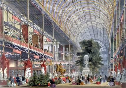 Transept of the Crystal Palace, London, 1851.