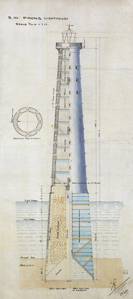 Design for the Prong lighthouse, Bombay, India, February 1867.
