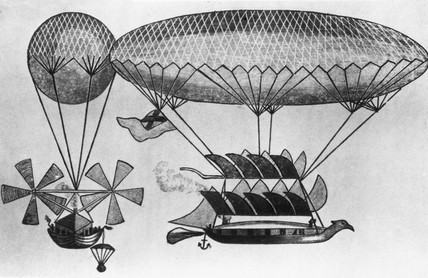 Cayley's improved design for a navigable balloon, 1837.