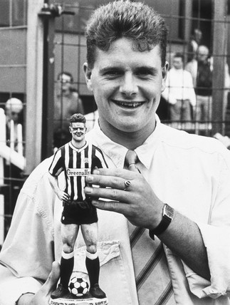 Paul Gascoigne, English football player, August 1987.